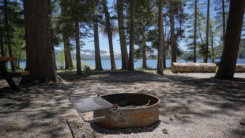 Roast marshmallows over your fire pit right outside the RV