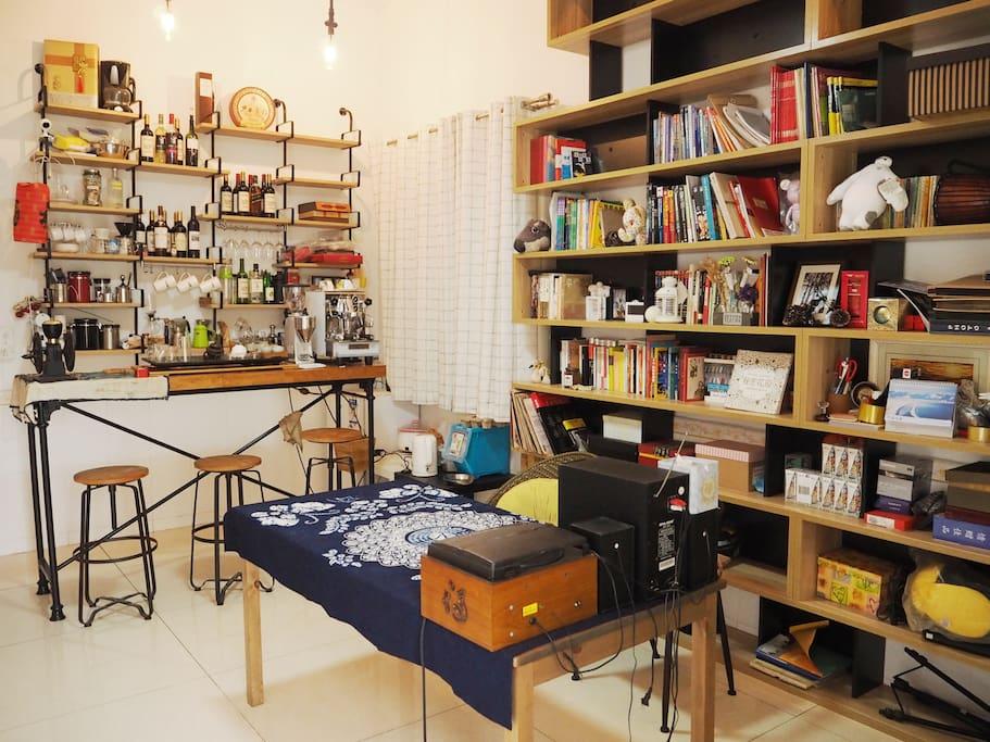 书房的全貌