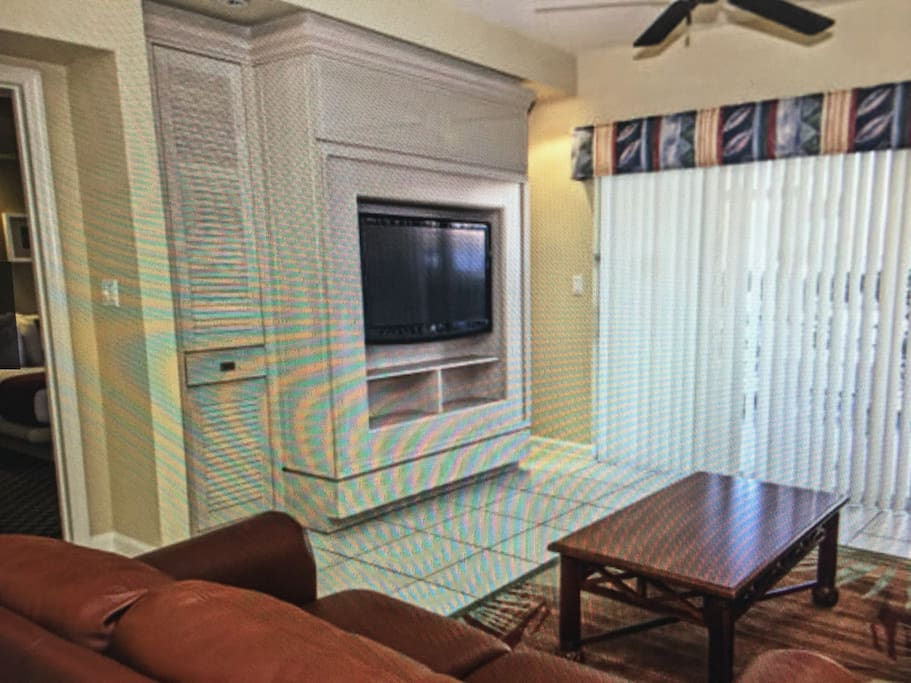 Living room relaxing area! Phone with voice mail, cable TV with premium channels, DVD player, wi-Fi internet access and satellite.