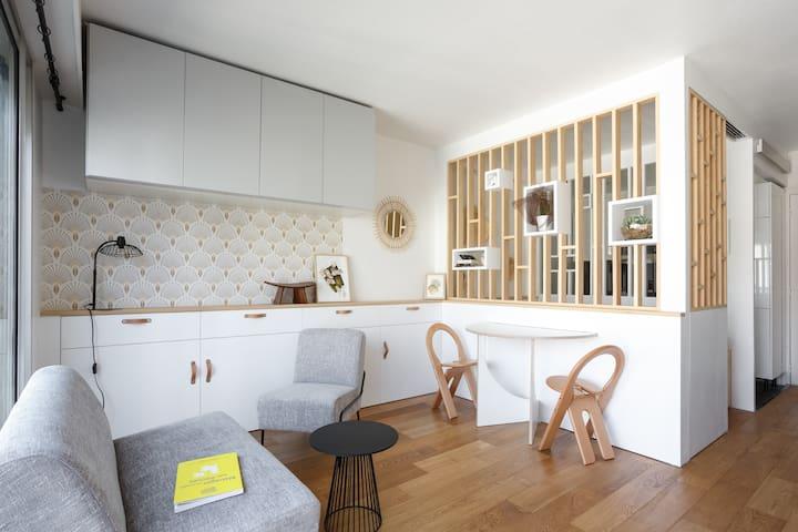 Studio d'architecte au pied de la butte Montmartre