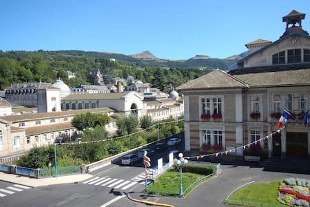 meublé 3 étoiles lumineux vue montagne et ville - La Bourboule