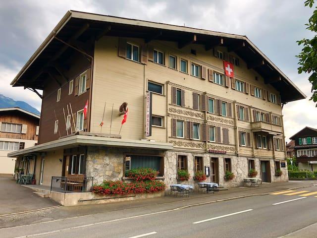 Swiss Chalet style hotel near Interlaken
