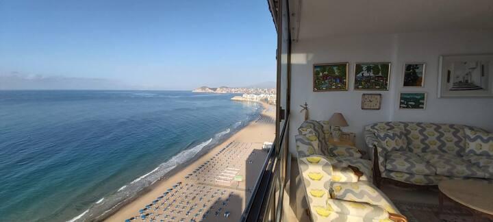 Apartamento piso 20, primera linea de playa
