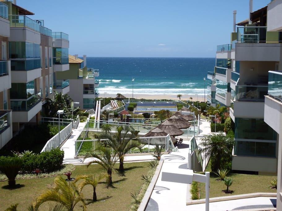 Vista interna do resort