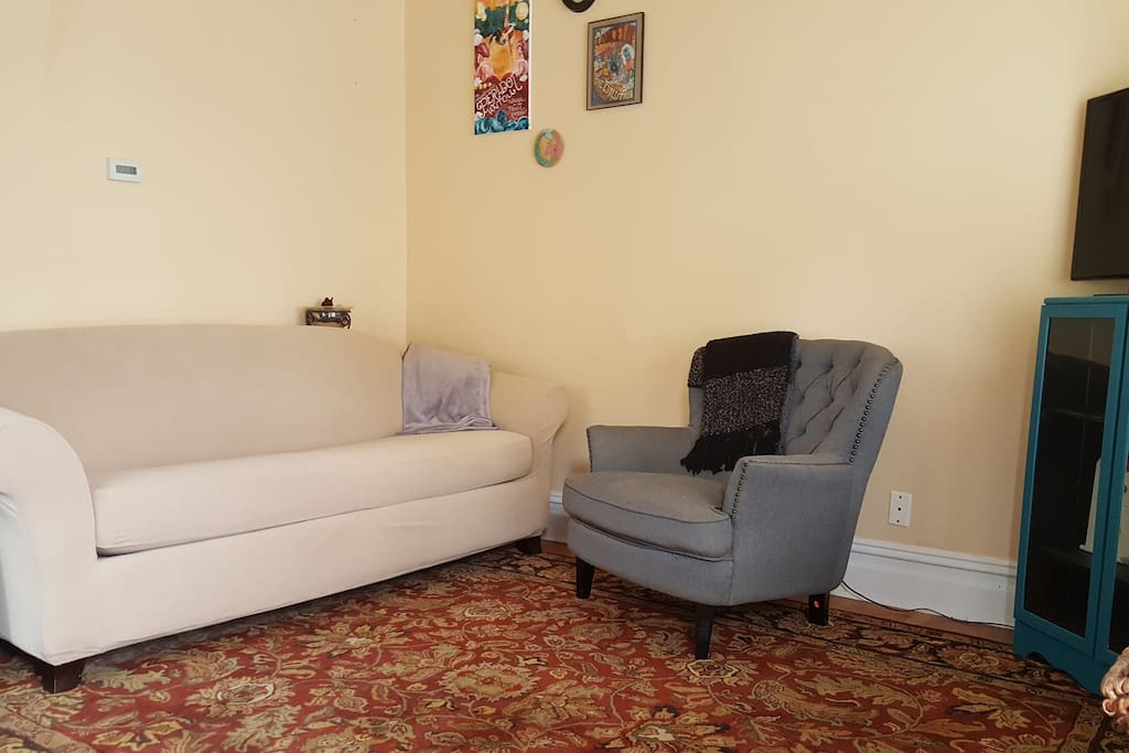 Living room and seating area