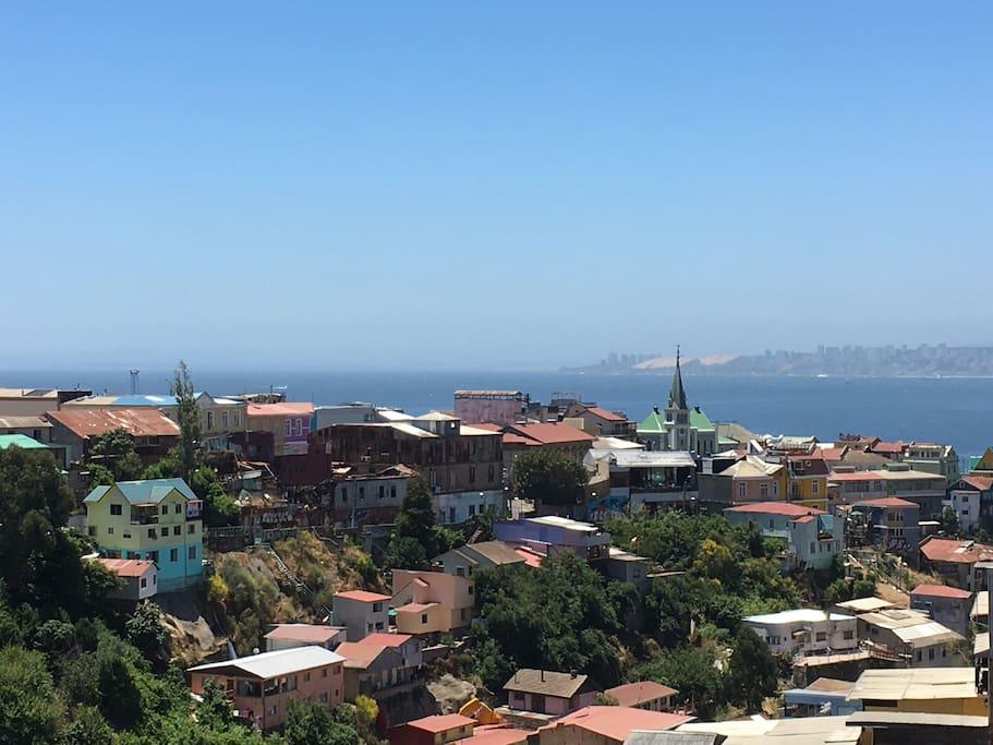 Vista desde la terraza privada del departamento