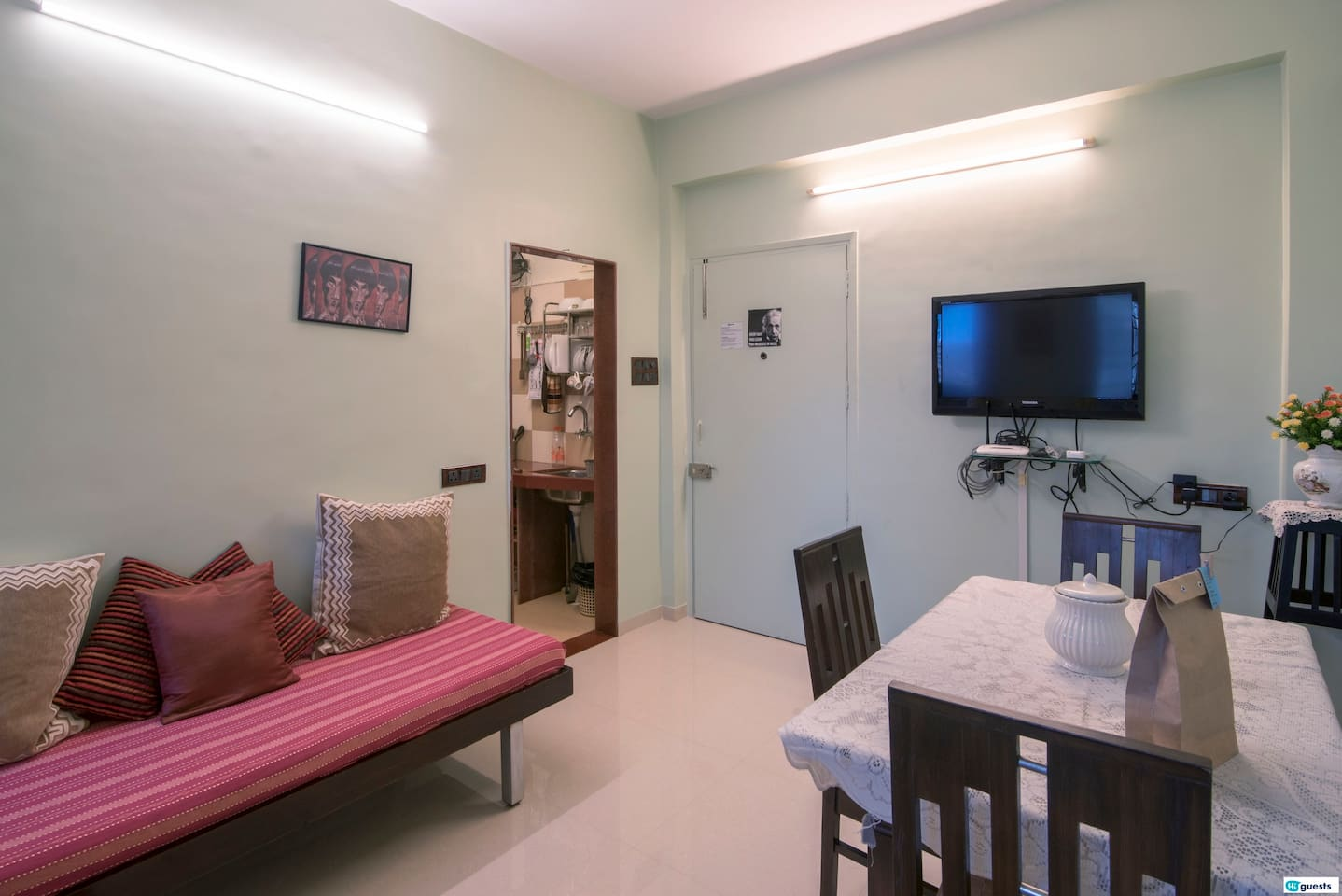 Newly renovated and minimally furnished, 1 Bedroom apartment