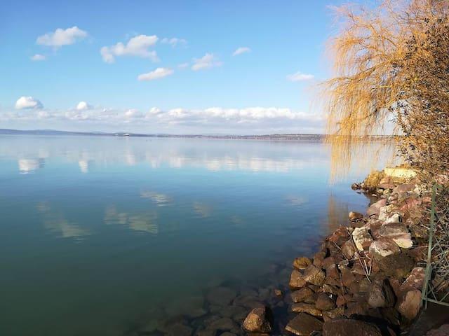 Enchanting fall by the Lake Balaton