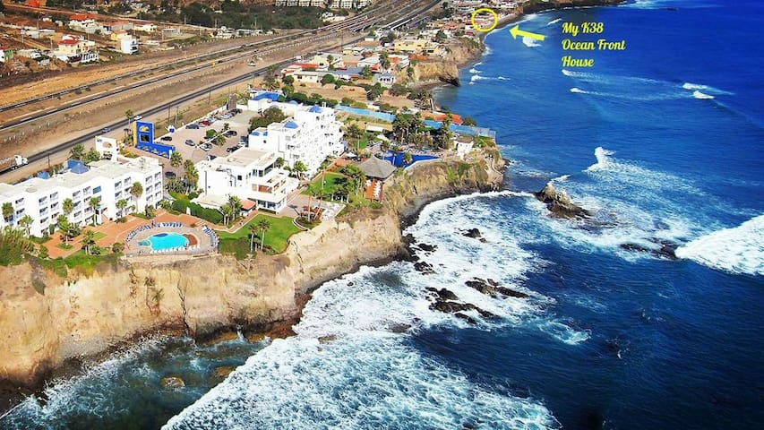 Oceanfront K38 Surf House Rosarito B.C. Mexico