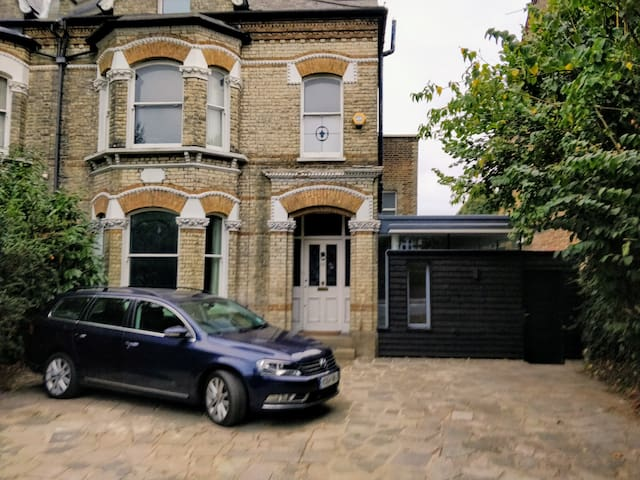 House front with separate studio entrance