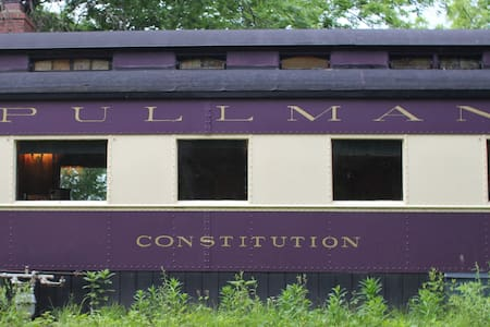 "The Pullman Train Car ""Constitution"" - Plano - Tren"