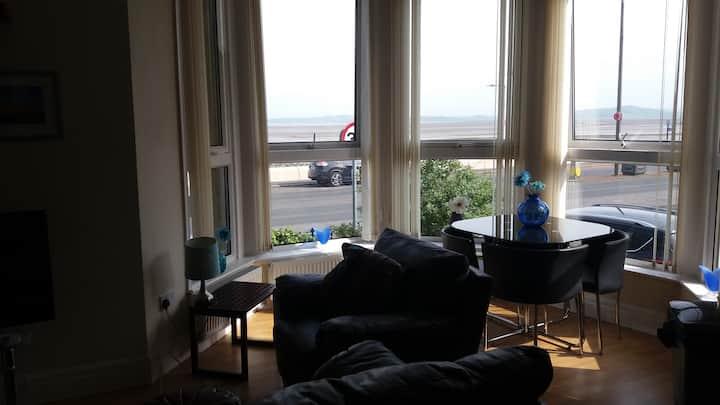 Morecambe Ground Floor Apartment .Glorious Views.