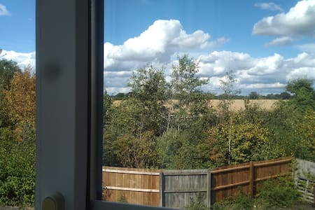 A lovely flat with views of the country side