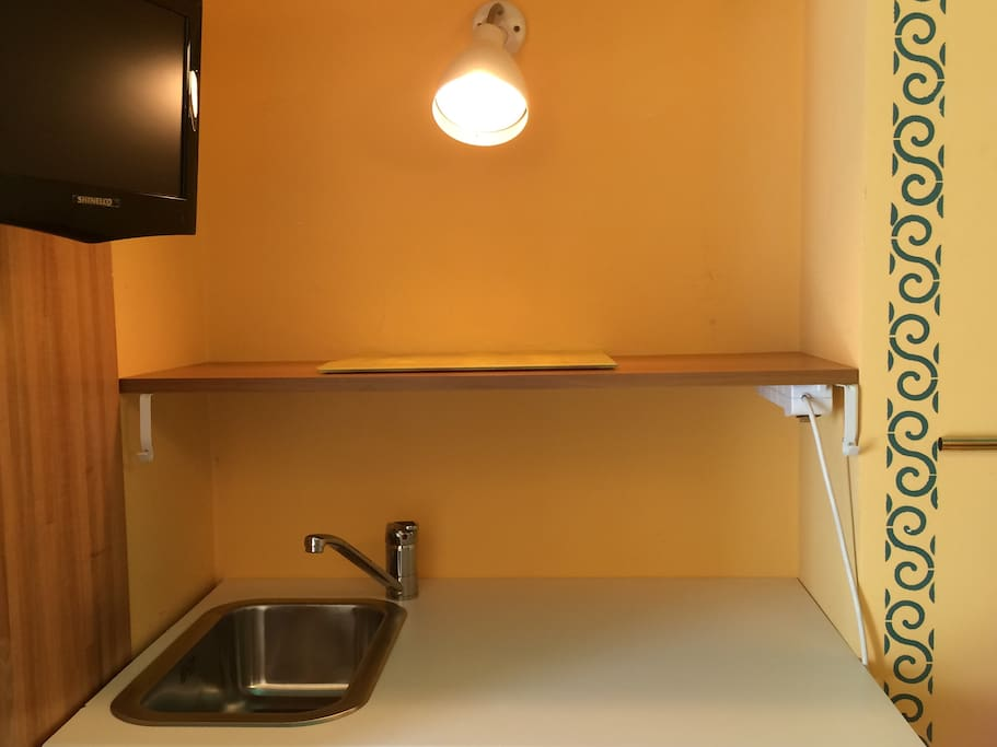 kitchen corner with sink in the first room