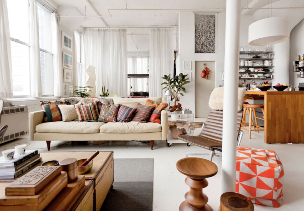 Comfortable, stylish living area