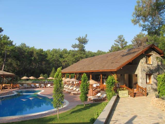 Olymposvillage eco hotel doğal yaşam köyü - Çıralı