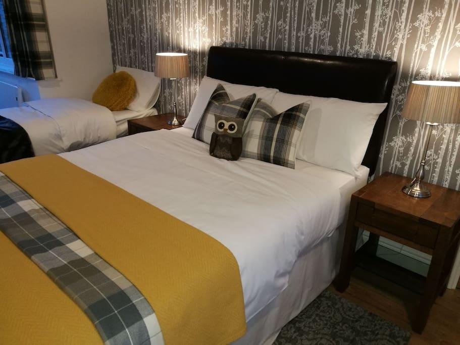 Chaddy Owl enjoys a good night's sleep at Woodlands.