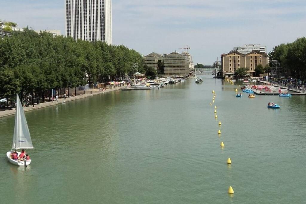 Le Bassin de la Villette à 5 minutes à pieds