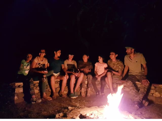 And shared stories by the camp-fire