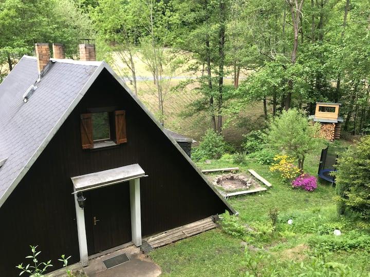 Gemütliche Hütte im Bielatal