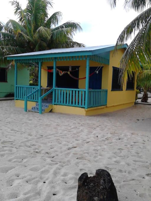 One of the six beachfront cabanas we offer