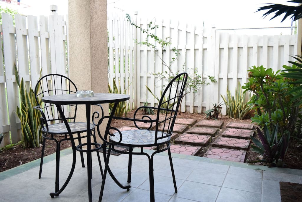Jamaica Vacation Rentals - City Patio with small private Garden