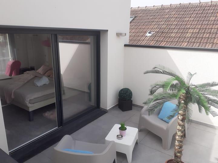 Suite Love💕💋 sdb et terrasse privée