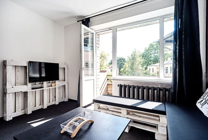 The Black and White Apartment - Riga - Appartement