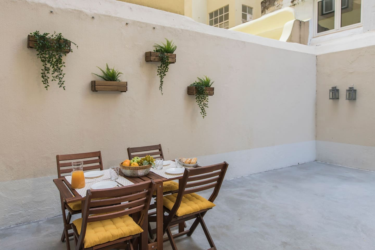 Your own private patio- perfect for breakfast with your loved ones!