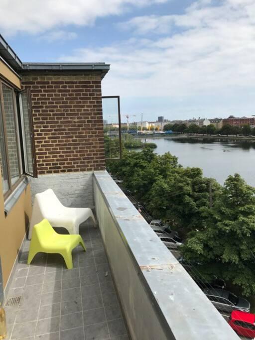 Balcony facing the lakes