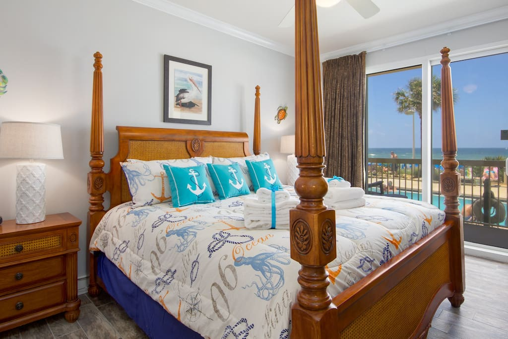 The Master Suite also features private balcony access