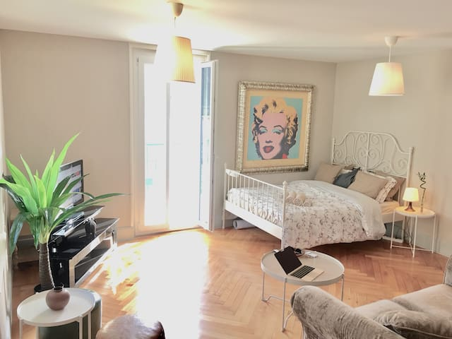 060 Appart. 1 min from Lausanne & Parking&Terrace
