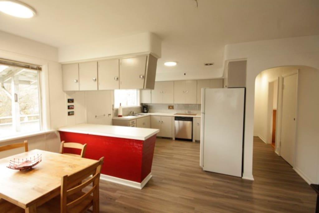 Modern clean bright kitchen