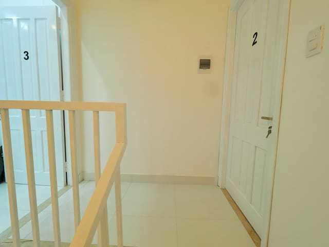 Two bedrooms are opposite on the 2nd floor