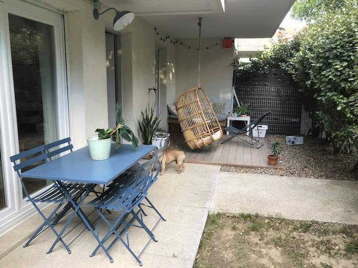 Appartement T2 jardin