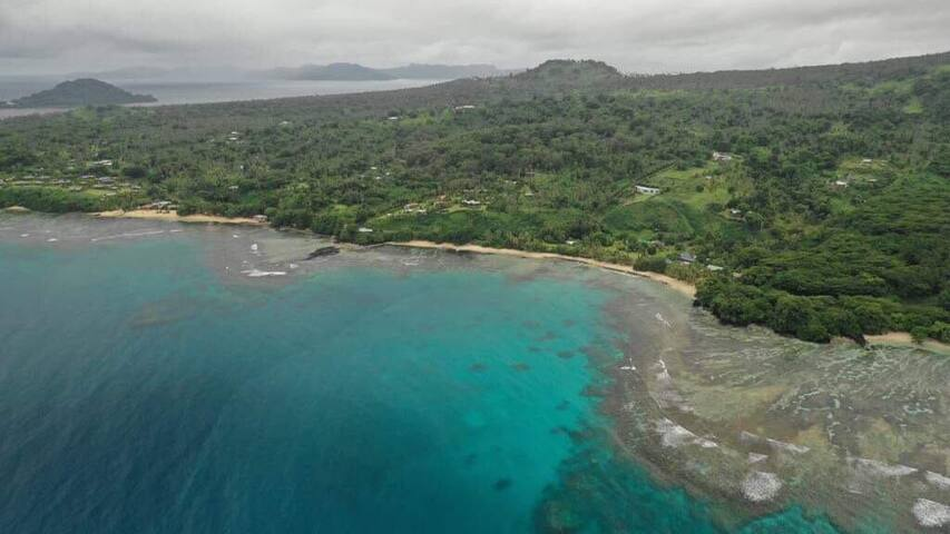 Aerial view of Taveuni