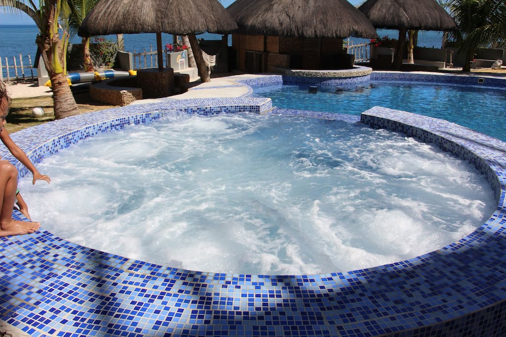 Jacuzzi  with million bubles brings life back into your body