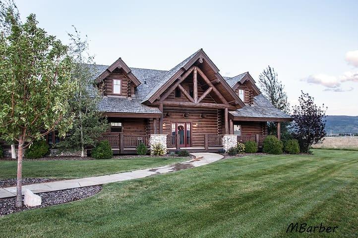 Custom Log Home w/ Views of Teton Mnts, Driggs, ID
