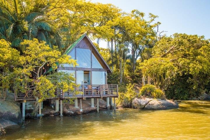 Chalé rústico | Vista panôramica da Lagoa | Ofurô