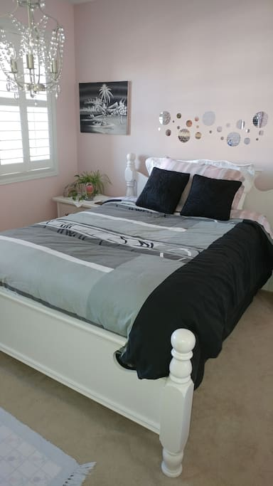 comfortable clean double bed