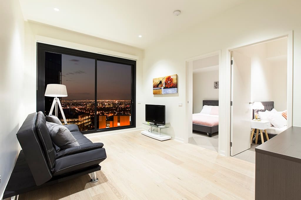 Livingroom : Tv, Private balcony, sofa bed can be folded out to accommodate more guests
