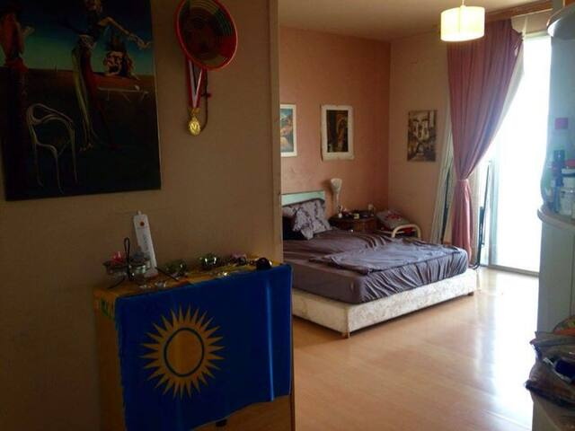 Spacious room with private bathroom in shared flat