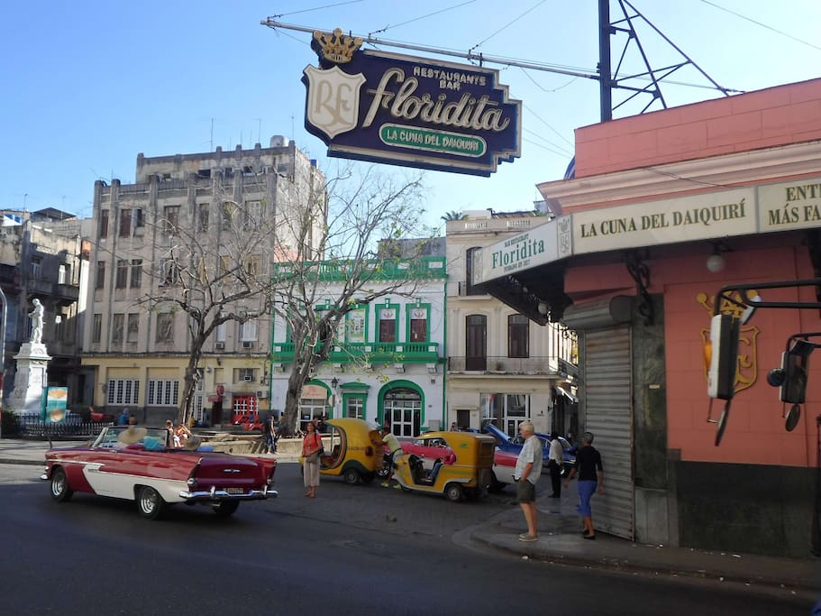 My space is located near the Floridita restaurant