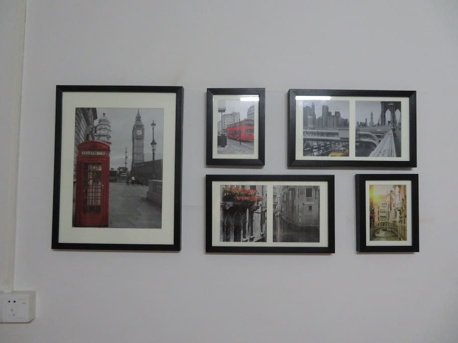 温馨的欧洲街景照片墙