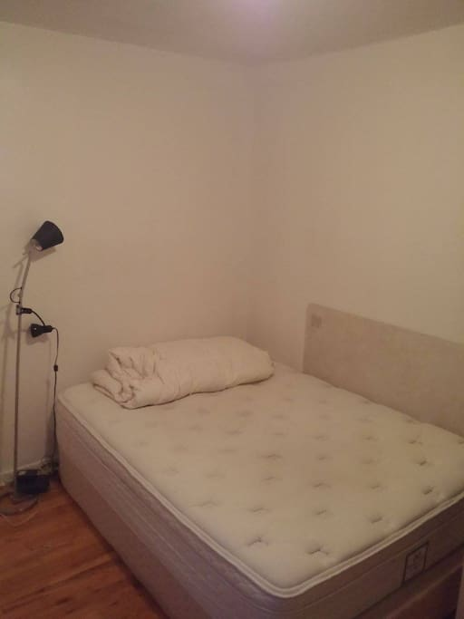 Queen bed. Bed sheets will be installed
