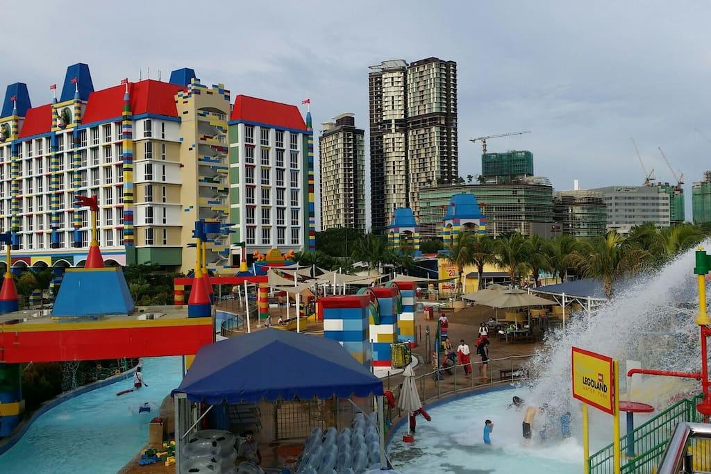 Legoland is just across a road