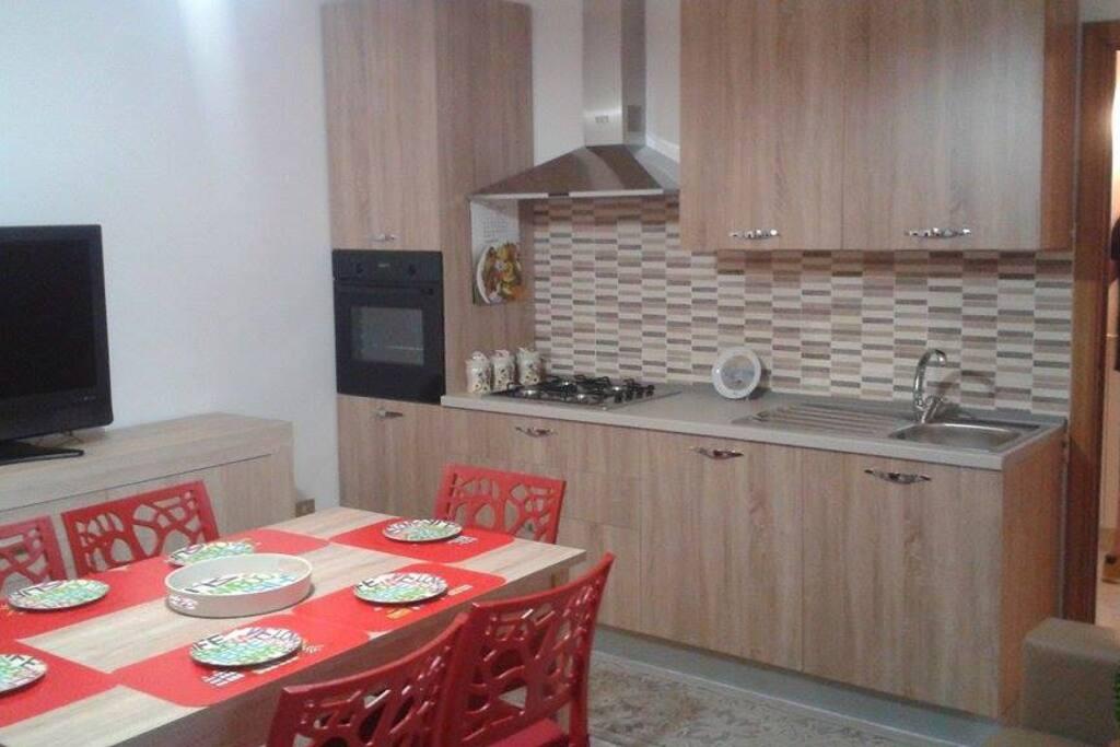soggiorno con cucina