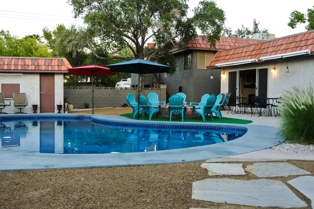 Good size pool on 1/2 acre lot