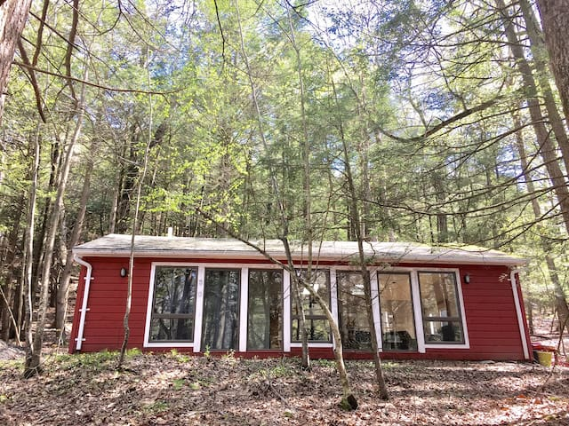Wooded Retreat w/ Hot Tub and Trout River