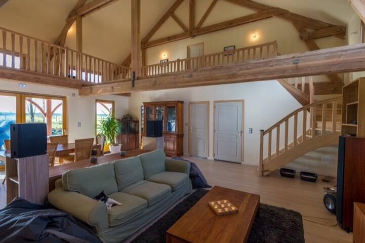 suite parentale dans superbe maison bois - Les Barils - Hus